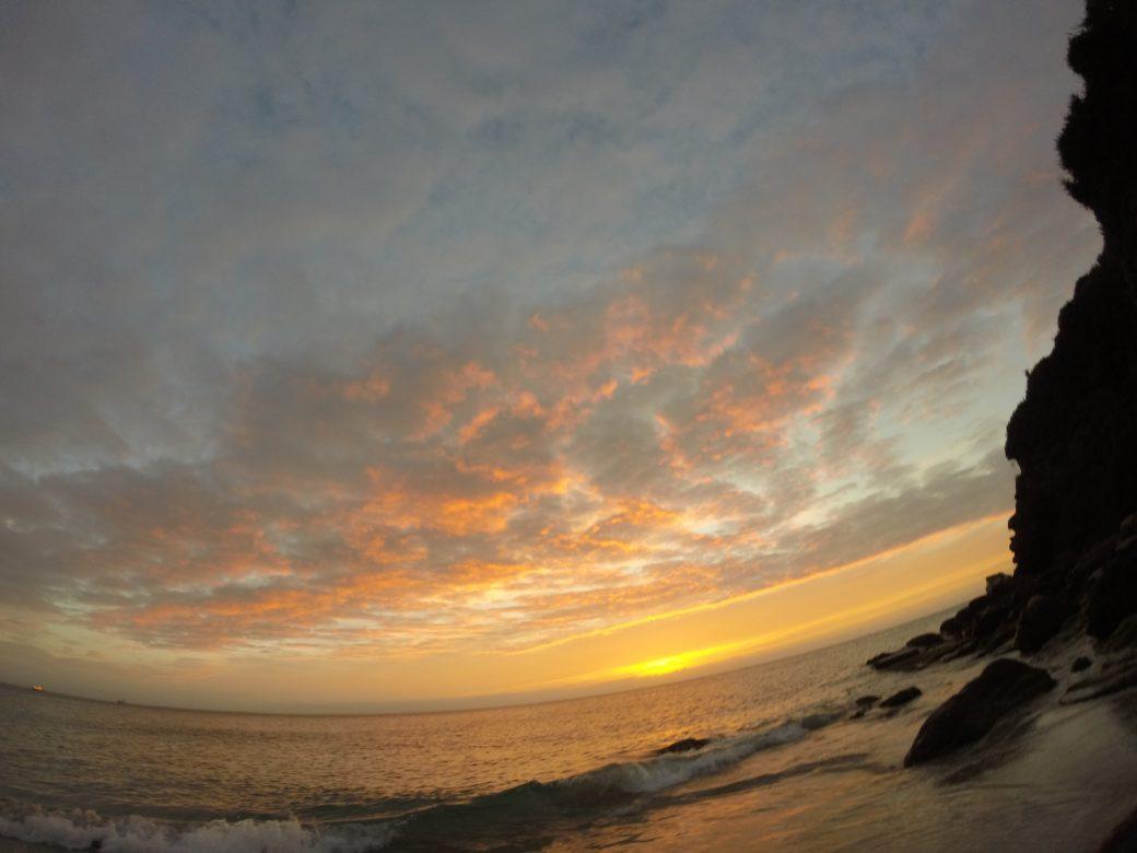 lever de soleil a Groix